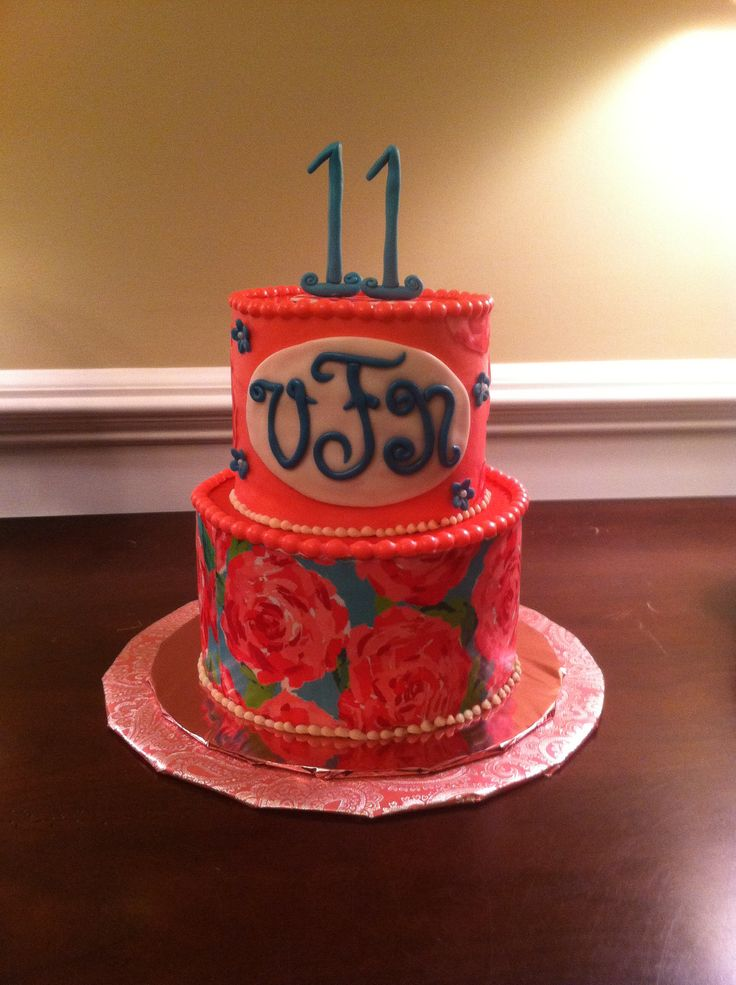 Lilly Pulitzer Birthday Cake Image Inspiration of Cake and