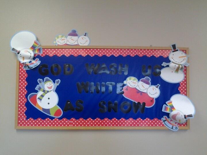 Winter/Snowman | Bulletin Board Ideas - Sunday School | Pinterest
