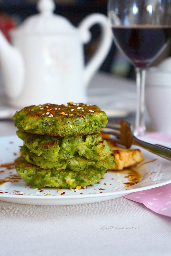 Broccoli Fritters: Boil broccoli til almost tender. Drain and chop ...