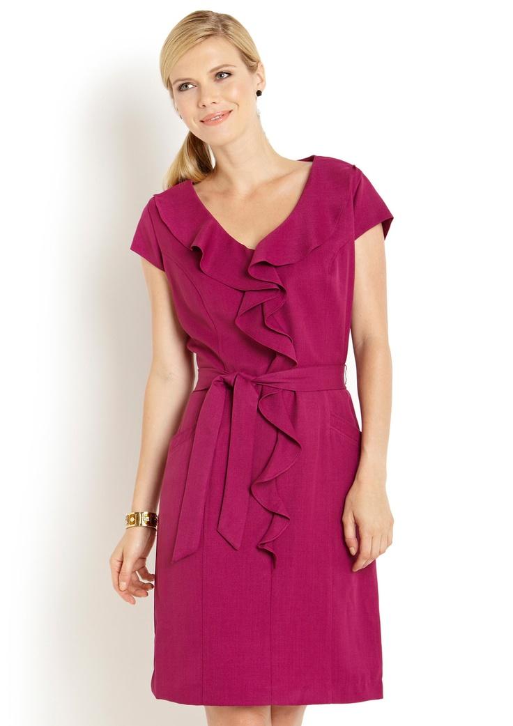 Sharagano Ruffle Collar Dress | My Style