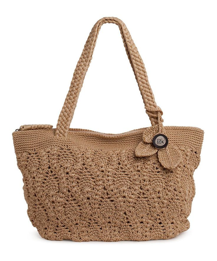 Crochet Shoulder Bag : Bamboo Crocheted Shoulder Bag on zulily today!