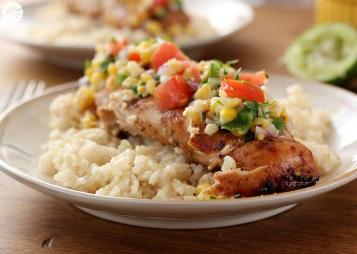 Grilled Honey Lime Chicken and Corn Salsa #WhatAGrillWants - A Kitchen ...