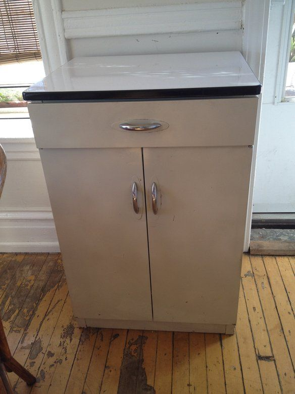 Vintage Retro Kitchen Cabinet Metal