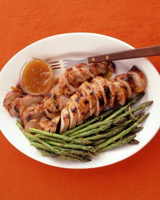 Apricot-Glazed Pork Tenderloin- super easy, simple glaze. This is ...