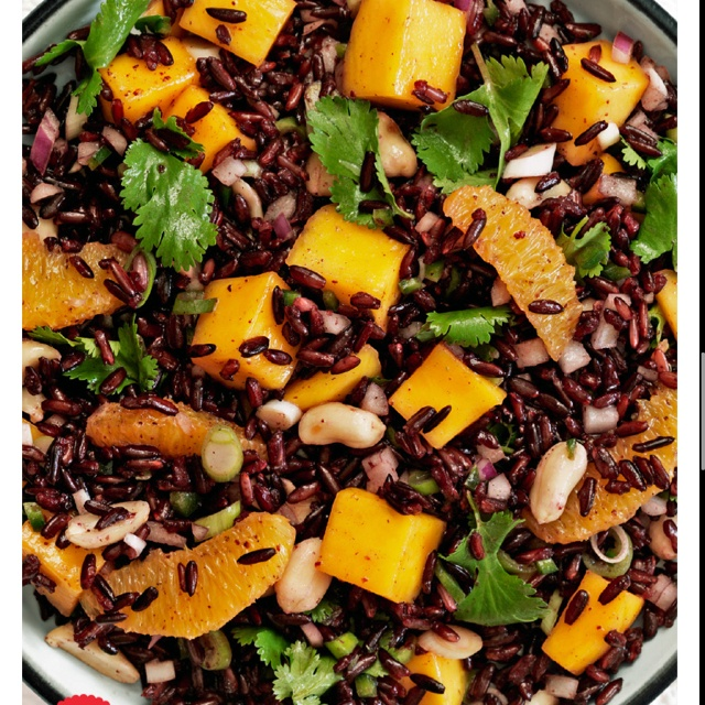 Mango orange black rice salad | Pasta, Rice and Grains | Pinterest