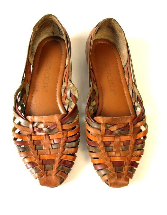 Wonderful Ladies Leather Flat Sandals CW306223