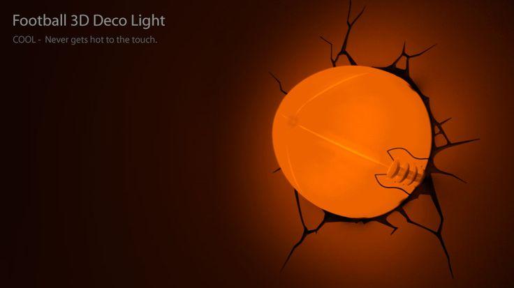 Football 3D Deco Night Light Football Pinterest