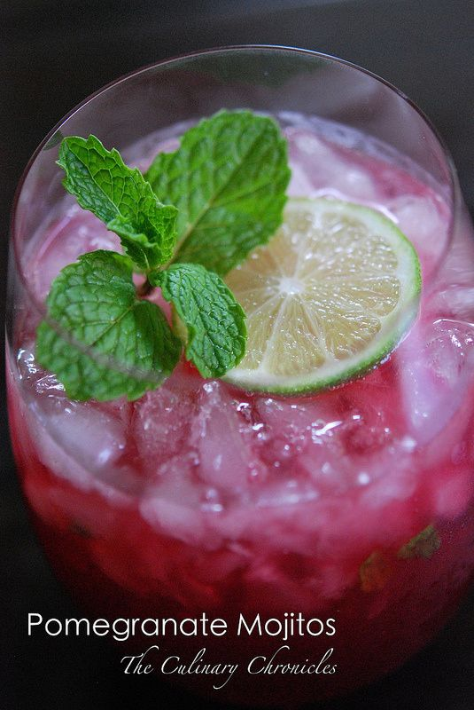 Pomegranate Mojitos - A Super Cocktail! | My ALL TIME Favs | Pinterest