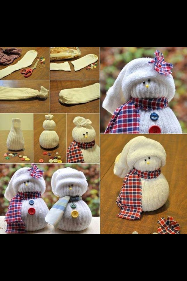 Diy christmas sock snowman diy crafts and useful pinterest