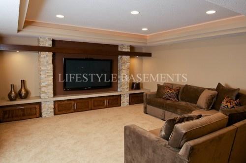 Basement Tv Room For Our Home Pinterest