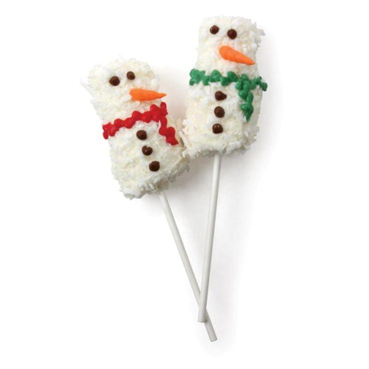 Coconut Snowmen Pops | desserts | Pinterest