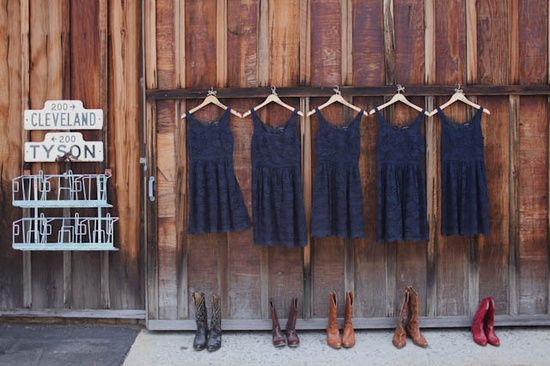 Navy Blue Bridesmaid Dresses With Cowboy Boots Pin by Allison Wilson ...