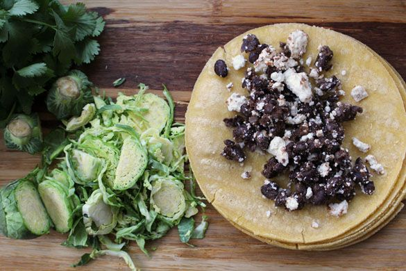 ... bean tacos 2 Crispy Black Bean & Feta Tacos with Brussels Sprout Slaw