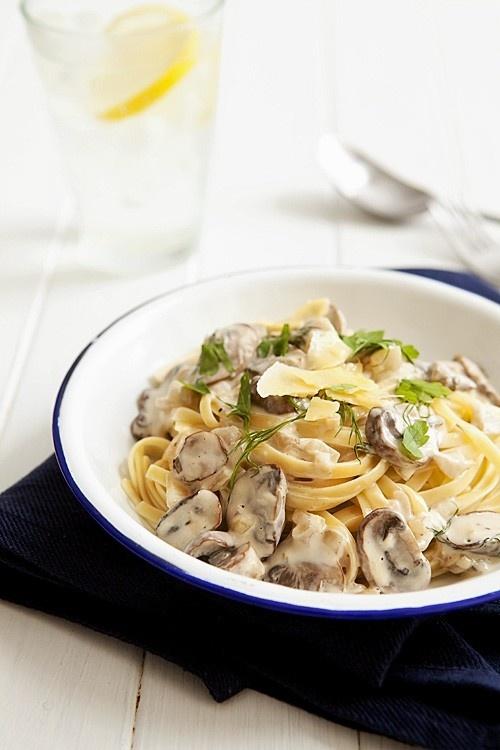 Creamy Mushroom Pasta | Food | Pinterest