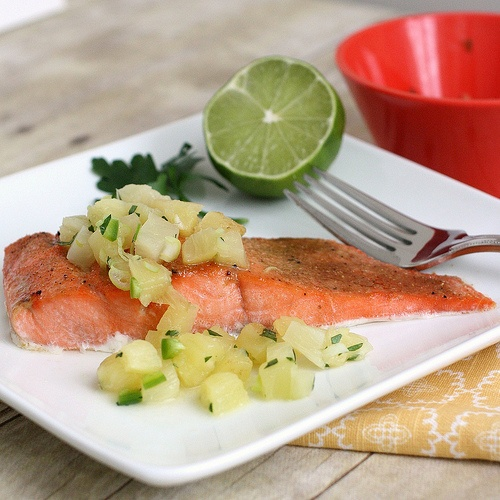 Broiled Salmon with Pineapple Salsa | Food | Pinterest