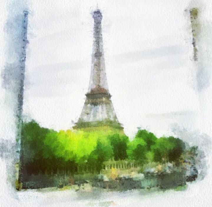 watercolor eiffel tower art inspiration pinterest
