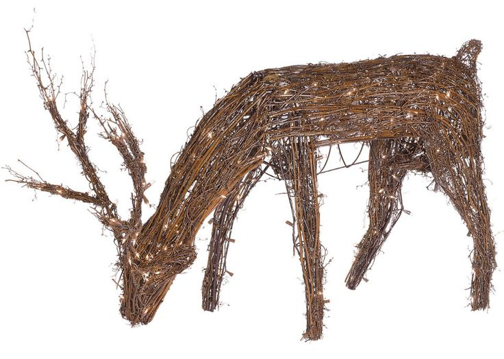 48 quot grapevine reindeer with head down 200 warm white led lights