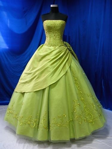 Green Wedding Dress Pretty Prettiest Dresses Pinterest