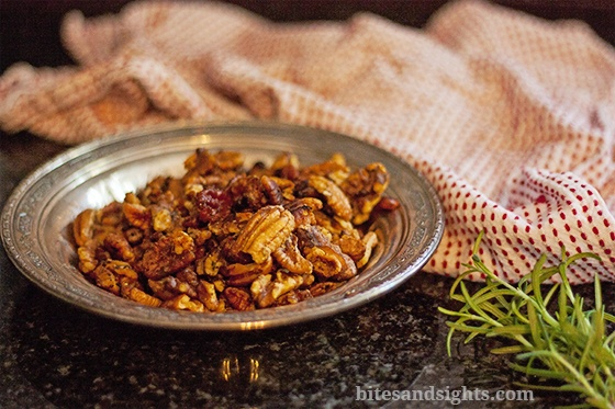 sweet and savory roasted nuts | food | Pinterest