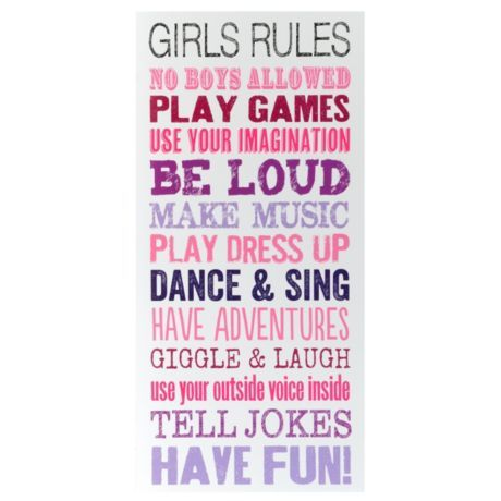 Girls Rules Wall Art Kirkland 39 S Back To School Kids