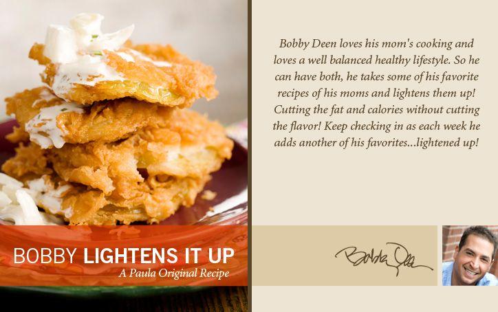 Bobby's Lighter Fried Green Tomatoes on PaulaDeen.com