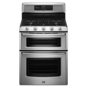 Fixer upper carriage house kitchen - Maytag Range Gemini 6 Cu Ft Double Oven Gas Range With Self Cleani