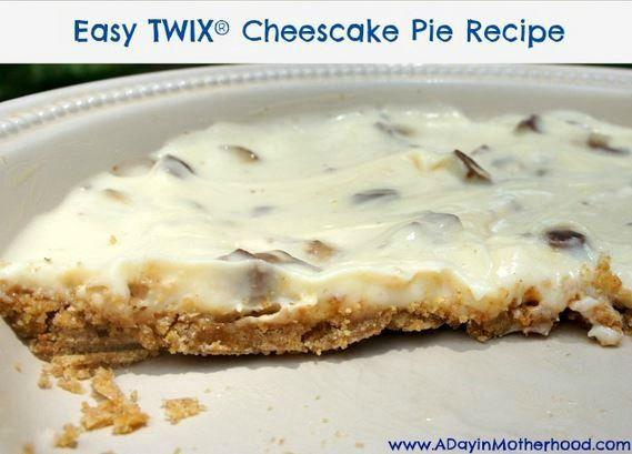Easy Twix Cheesecake Pie Recipe | Cakes | Pinterest