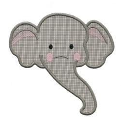 Elephant Head Applique  StencilElephant Head Stencil