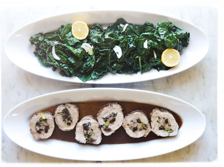 with cavalo nero sautéed with crushed red pepper and garlic in really ...