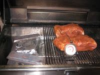 Barbecued Pork Shoulder On A Gas Grill Recipe — Dishmaps