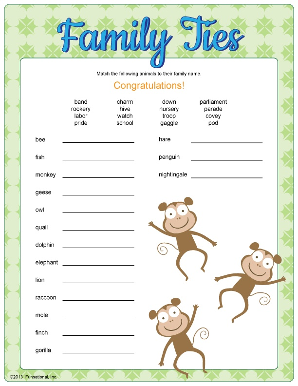 family ties baby shower game baby showers pinterest