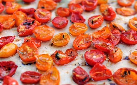 Roasted Cherry Tomatoes...you can FREEZE them!!! A great way to use ...