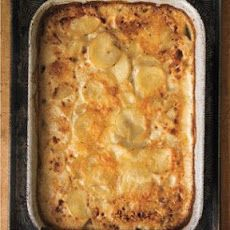 Rich Scalloped Potatoes with gruyere cheese, heavy cream, leeks. WAS ...