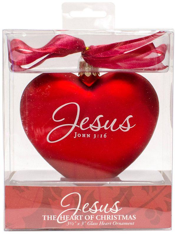 Heart Christmas Ornament   Christmas ornaments   Pinterest