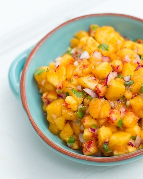 Simple Peach Salsa - I love salsa that doesn't have to come out of a ...