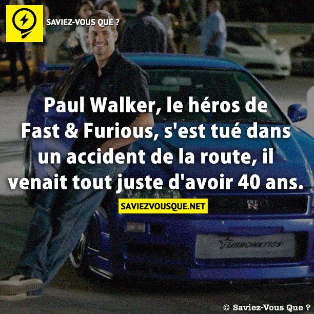 paul walker le h ros de fast furious s 39 est tu dans un accident de la route il venait tout. Black Bedroom Furniture Sets. Home Design Ideas