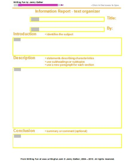 graphic organizers for report writing Biography graphic organizer - elementary subject english language arts, creative writing, writing grade levels 2 nd, 3 rd report this resource free.
