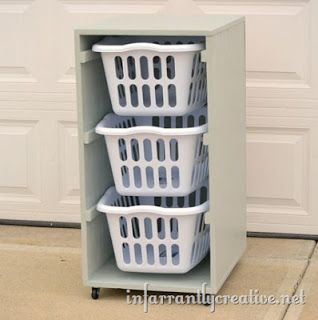 wilker do 39 s diy laundry basket holder diy pinterest. Black Bedroom Furniture Sets. Home Design Ideas