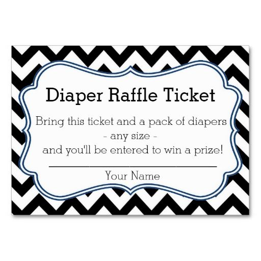 Diaper Raffle Ticket Template | New Calendar Template Site