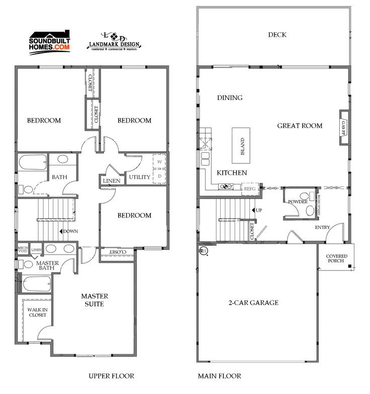 Landmark homes floor plans house plans for Landmark home designs