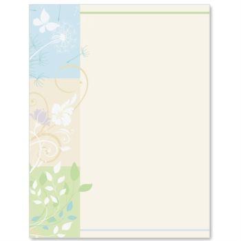 Spring Silhouette Letter Paper | Stationery | Pinterest