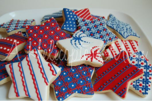 fourth of july cookie bars