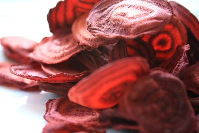... me especially these beet chips 6 beets in the fridge awaiting chipping