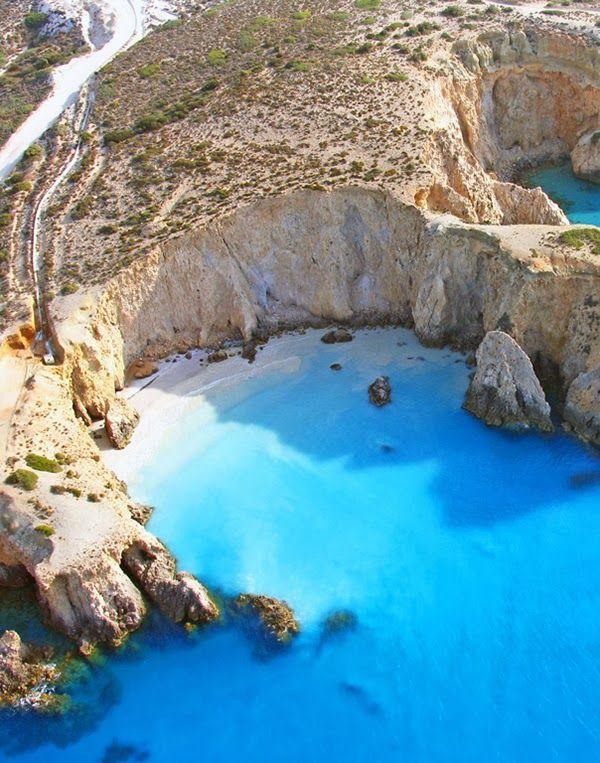 White Cliffs of Milos Island, Greece