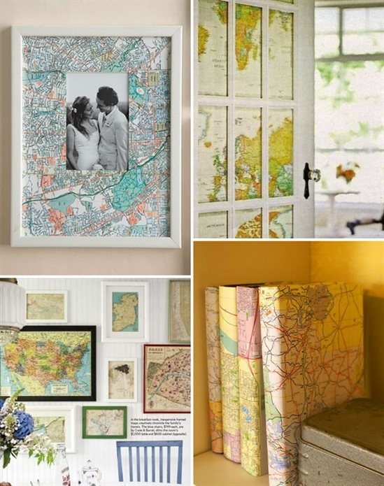 map wall living room besides diy decorating ideas with maps on maps