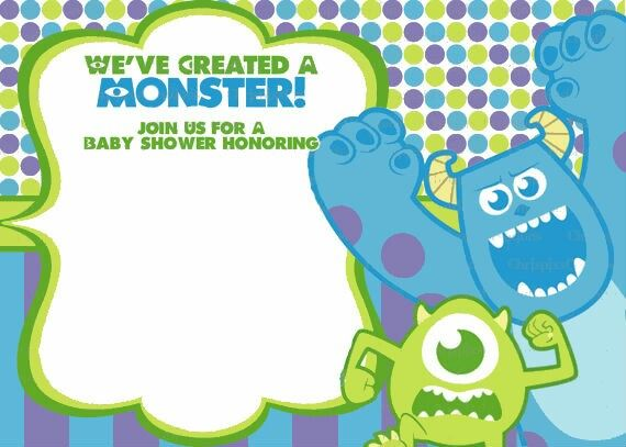monsters inc baby shower invitation birthday ideas pinterest