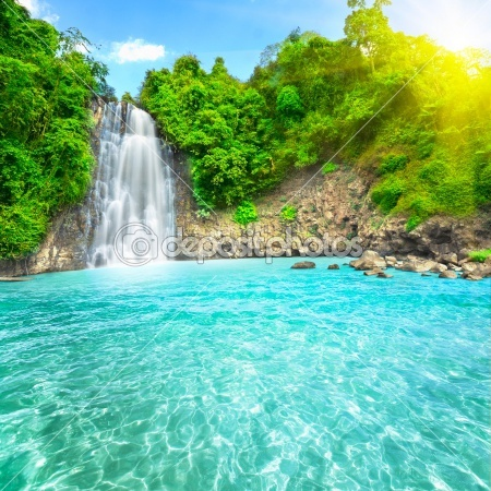 beautiful soft waterfall in - photo #49