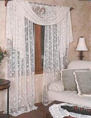 "Heritage Lace Brighton 45 x 126"" Window Scarf Drape Valance"
