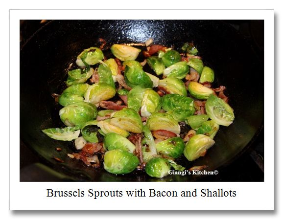 Brussels Sprouts with Bacon and Shallots | Veggie Recipes | Pinterest