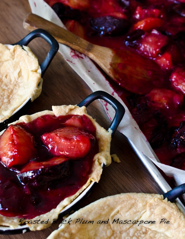 Roasted Black Plum and Mascarpone Pie | Fruit recipes - for the fruit ...